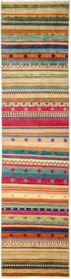 "Tribal, Multi Wool Runner - 2' 6"" x 10' 0"""