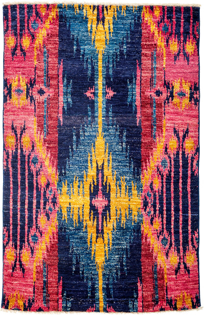 "Ikat, Multi Wool Area Rug - 3' 10"" x 6' 0"""