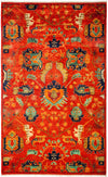 "Classic, Red Wool Area Rug - 5' 3"" x 8' 6"""