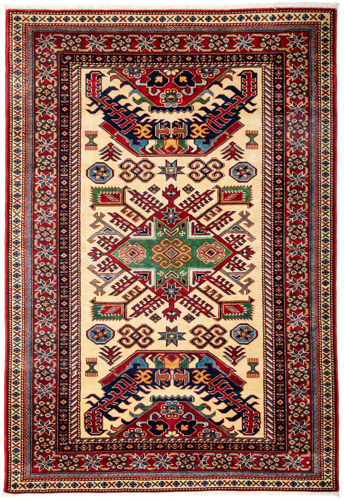 Classic Red Wool Area Rug 4 4 X 6 1 Lillian August