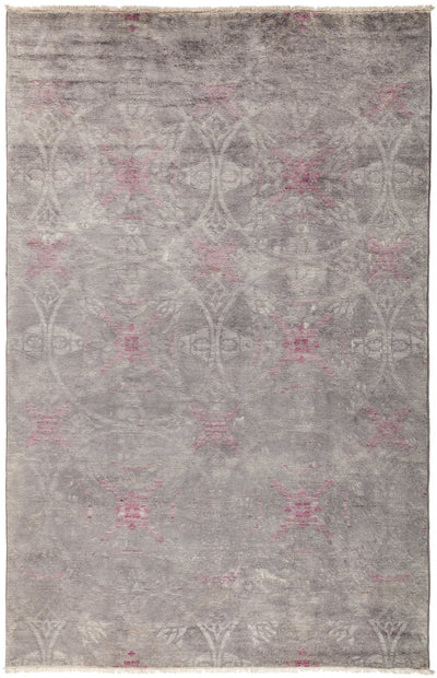 "Overdyed, Gray Wool Area Rug - 5' 3"" x 8' 1"""