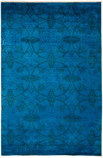 "Overdyed, Blue Wool Area Rug - 5' 4"" x 7' 10"""