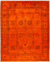 "Overdyed, Red Wool Area Rug - 12' 4"" x 15' 0"""