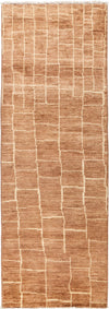 "Moroccan, Brown Wool Runner - 2' 7"" x 8' 0"""