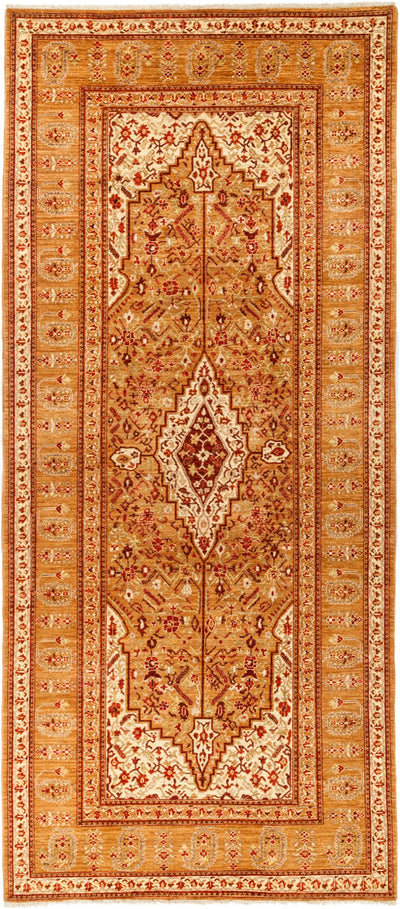 "Classic, Orange Wool Runner - 6' 2"" x 13' 10"""