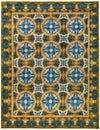 "Suzani, Blue Wool Area Rug - 9' 2"" x 11' 8"""