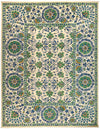 "Suzani, Green Wool Area Rug - 9' 2"" x 11' 9"""