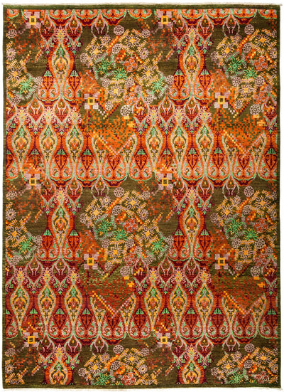 "Suzani, Multi Wool Area Rug - 9' 1"" x 12' 3"""