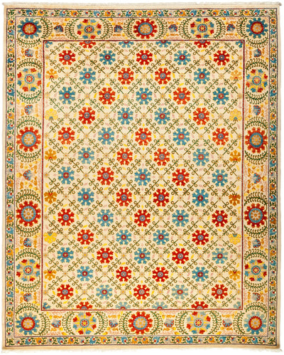 "Suzani, Multi Wool Area Rug - 8' 3"" x 10' 0"""