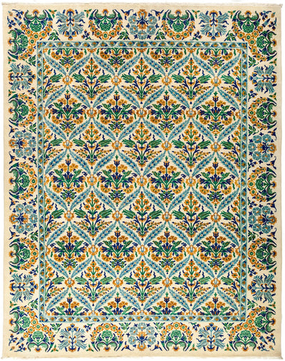 "Suzani, Multi Wool Area Rug - 8' 1"" x 10' 3"""