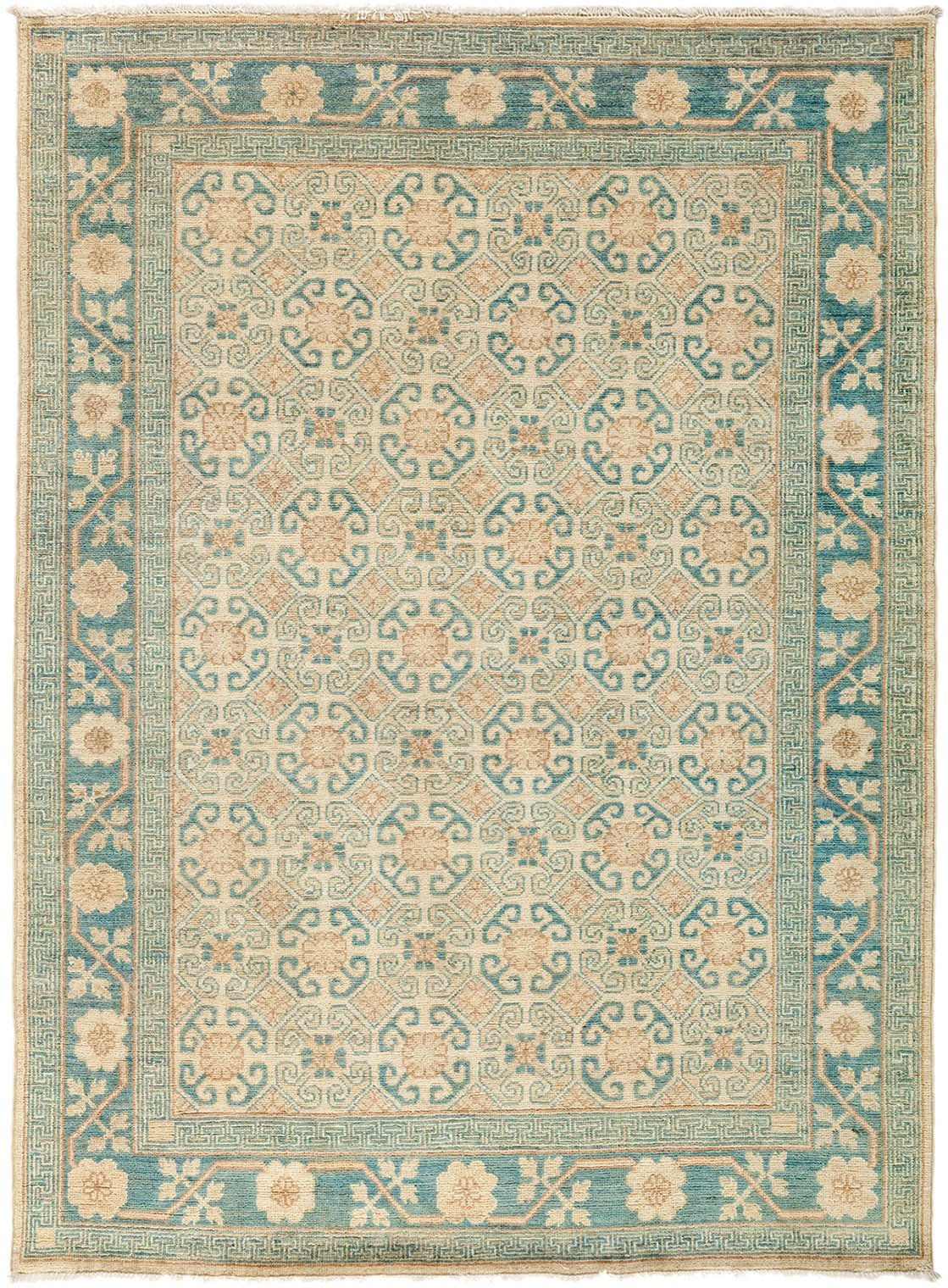 Classic Beige Wool Area Rug 4 10 X 6 8 Lillian August
