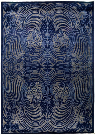 "Suzani, Blue Wool Area Rug - 10' 0"" x 13' 10"""