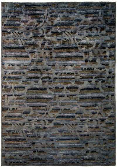 "Overdyed, Gray Wool Area Rug - 6' 2"" x 8' 7"""