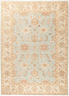 "Oushak, Blue Wool Area Rug - 5'9"" X 7'10"""