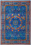 Modern, Blue Wool Area Rug - 6' X 8'9""