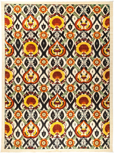 "Suzani, Multi Wool Area Rug - 10'1"" X 13'5"""
