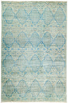"Suzani, Blue Wool Area Rug - 5'2"" X 7'10"""