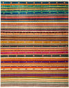 "Tribal, Multi Wool Area Rug - 8'2"" X 10'1"""