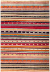 "Tribal, Multi Wool Area Rug - 6'3"" X 8'10"""