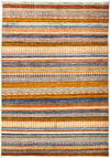 "Tribal, Multi Wool Area Rug - 4'3"" X 6'"