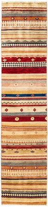 Tribal, Multi Wool Runner - 2' X 9'2""
