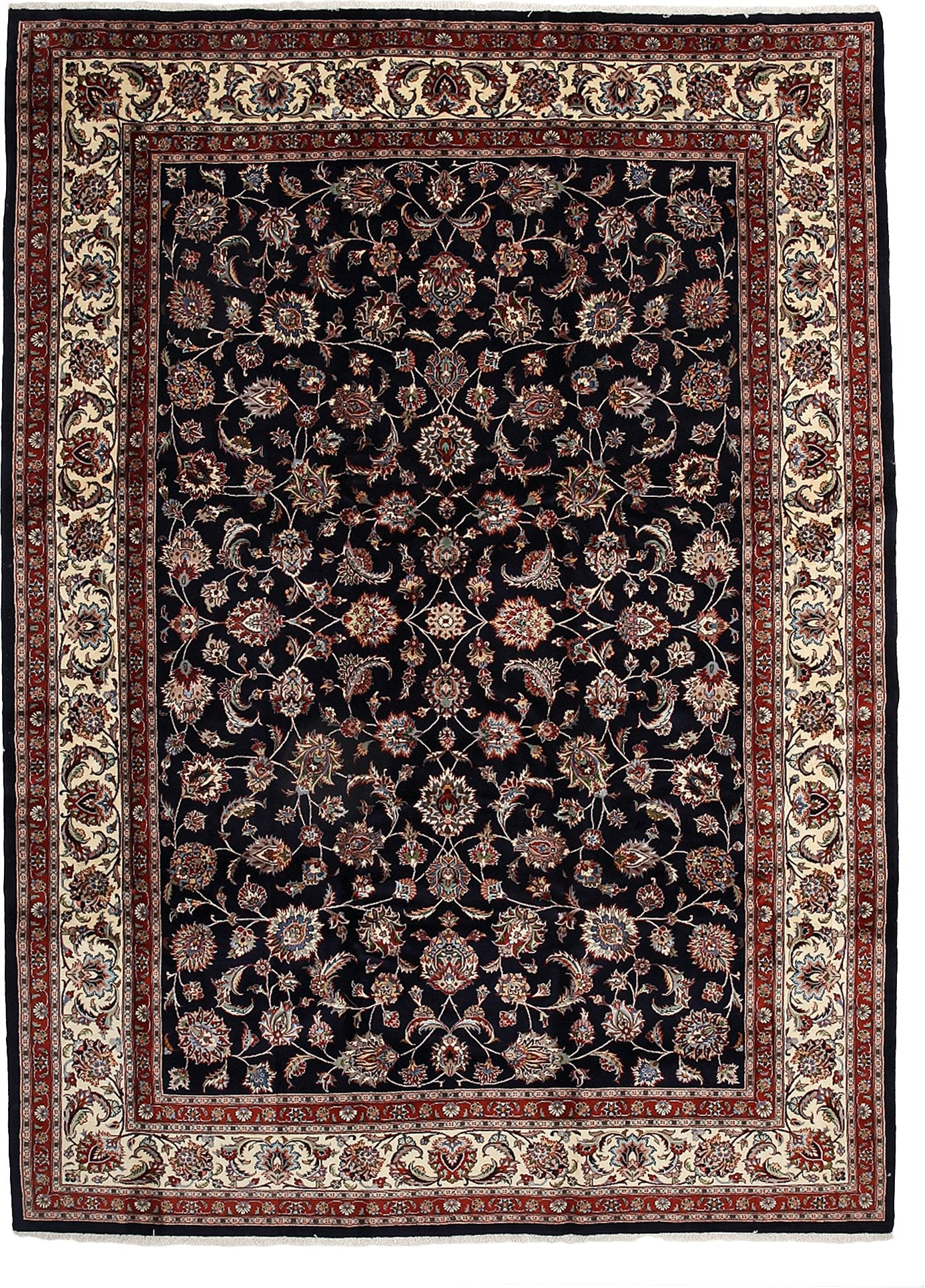 Persian Black Wool Area Rug 8 5 X 11 8 Lillian August