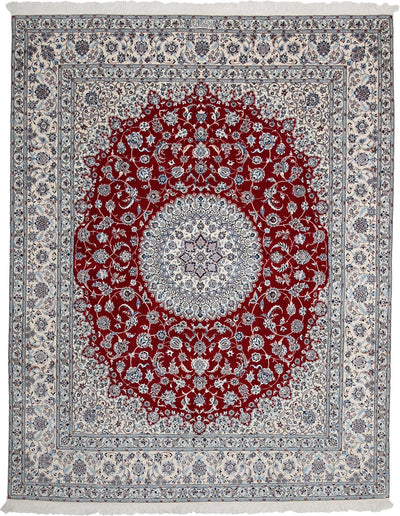 "Persian, Red Wool Area Rug - 6' 9"" x 8' 7"""
