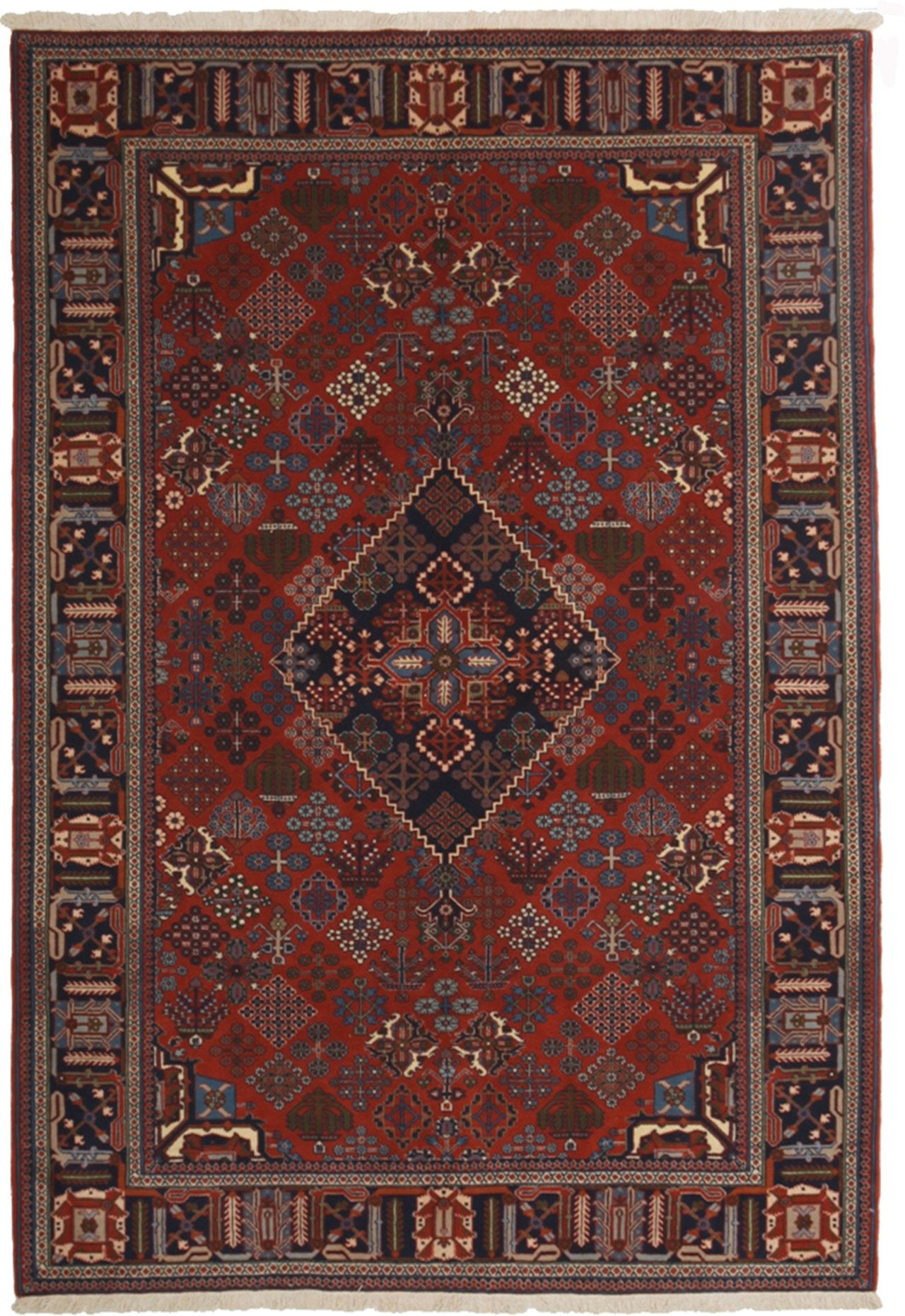 Classic Red Wool Area Rug 5 7 X 8 1 Lillian August