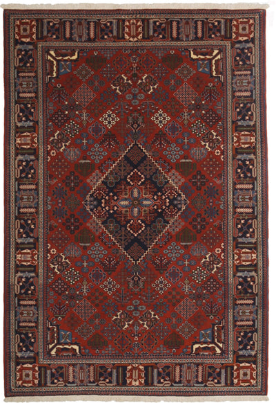 "Classic, Red Wool Area Rug - 5' 7"" x 8' 1"""