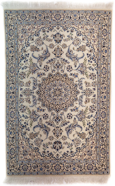 "Persian, Ivory Wool Area Rug - 3' 9"" x 6' 0"""