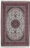 "Persian, Ivory Wool Area Rug - 5' 4"" x 8' 0"""