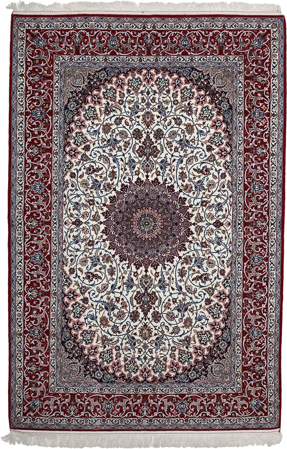 Persian Ivory Wool Area Rug 5 4 X 8 0 Lillian August