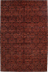 "Monochrome, Red Wool Area Rug - 6' 3"" x 9' 4"""