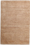 "Monochrome, Brown Wool Area Rug - 3' 10"" x 5' 10"""