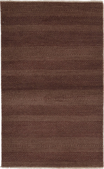 "Monochrome, Brown Wool Area Rug - 3' 1"" x 5' 0"""
