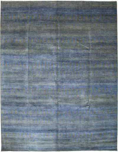 "Monochrome, Blue Wool Area Rug - 9' 2"" x 11' 8"""