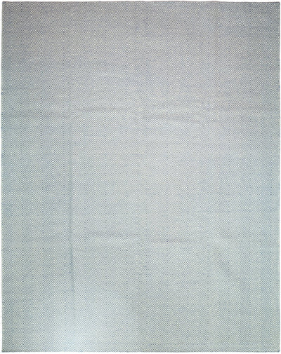 "Classic, Blue Wool Area Rug - 8' 1"" x 10' 1"""