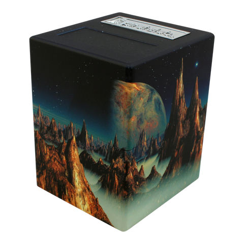 Defender Deck Box, Artwork Series, Lunar Landscape