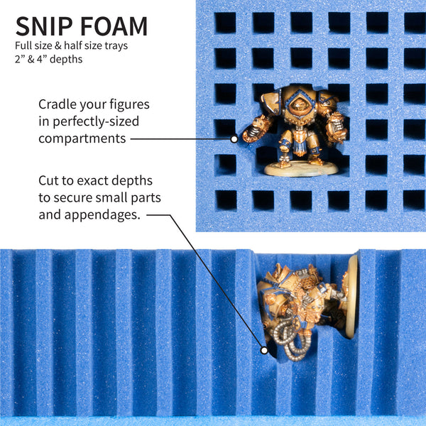 Miniatures Snip Foam for Large Cases