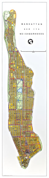 Manhattan Neighborhoods (Vertical)
