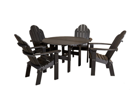 "Wildridge 46"" Round Table w/ 4 Dining/Deck Chairs"