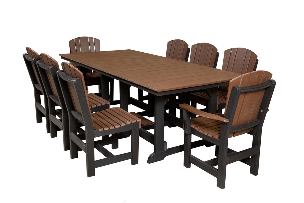 Little Cottage Heritage Table 44x94 w/ 8 Dining Chairs