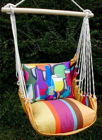 Magnolia Casual Wine Pillow Swing Set