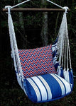 Magnolia Casual Marina Stripe Swing Set w/ Chevron Ikat Pillow
