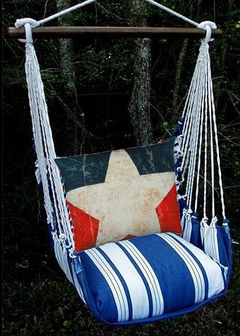 Magnolia Casual Marina Stripe Swing Set w/ Star Pillow