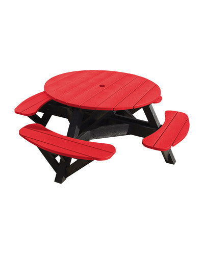 CRP Products Generation Line Black Frame Picnic Table