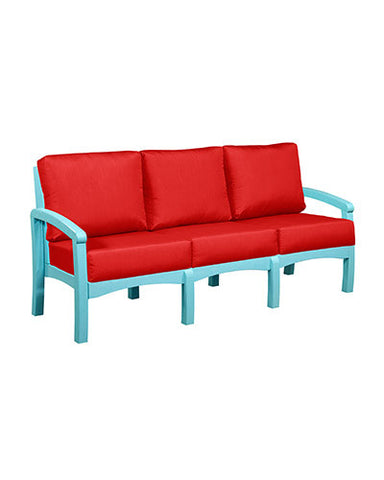 CRP Products Bay Breeze Coastal Collection - Aqua/Jockey Red