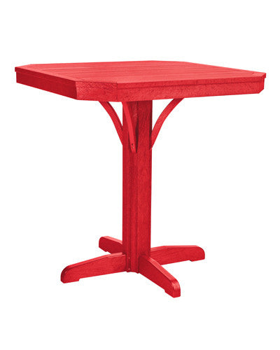 "CRP Products St. Tropez 35"" Square Pedestal Table"