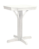 "CRP Products St. Tropez 28"" Square Pedestal Table"
