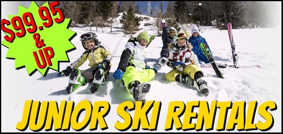 Ski Equipment Junior Rentals